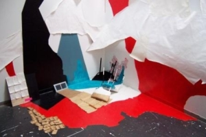 Julie Alpert installation/stage set, \