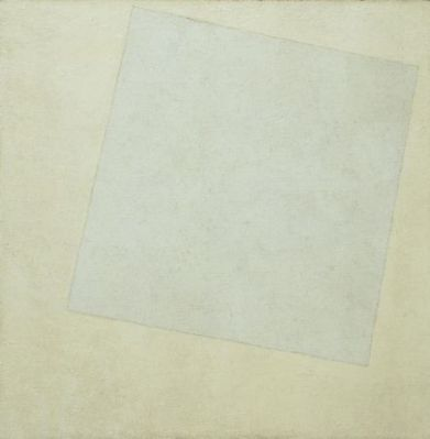 "White on White. 1918. Oil on canvas, 31 1/4 x 31 1/4"" (79.4 x 79.4 cm). 1935 Acquisition confirmed in 1999 by agreement with the Estate of Kazimir Malevich and made possible with funds from the Mrs. John Hay Whitney Bequest"