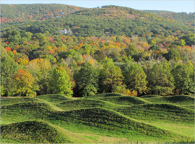 """Wave Field"" at Storm King Center. Photo by Colleen Chartier."