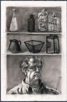 Medicine Chest. 1999. Charcoal on paper. Courtesy of the artist.