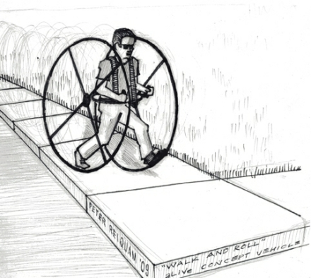 "Walk and Roll"" concept drawing, Peter Reiquam, copyright 2009"