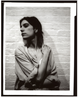 Robert Mapplethorpe. Untitled (Patti Smith). 1973. Monochromatic dye diffusion transfer print (Polaroid). Collection of Robert Mapplethorpe Foundation. Copyright Robert Mapplethorpe Foundation. Used by Permission.