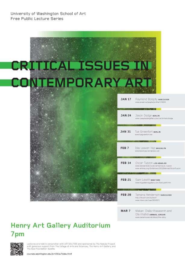 UW Art Lectures Poster