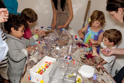 children making art