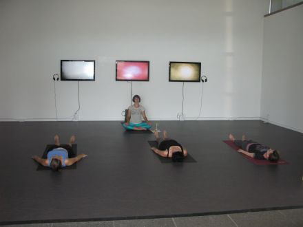 A previous yoga session in our Test Site space.
