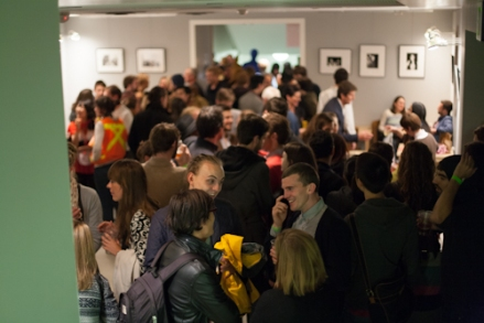 Last year's Fall Open House packed the gallery. Photo by Amelia Hooning