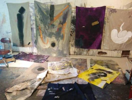 The studio of Kristan Kennedy. Image courtesy of the artist.