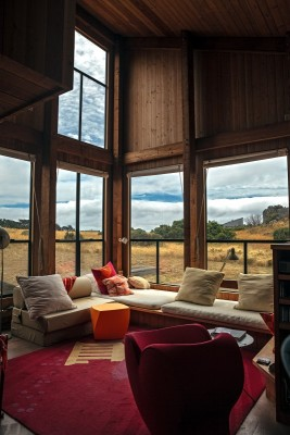 """Photo credit: Sonoma Magazine. """"The living room of Donlyn Lydon's House."""""""