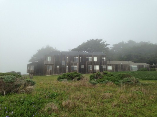 Photo credit: RoxyRobles. Sea Ranch homes on a foggy day.